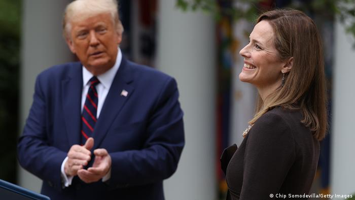 Washington Trump Vorstellung Supreme Court Richterin Nominierte Amy Coney Barrett
