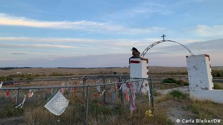 Native American cemetery at the site of the Wounded Knee massacre on Pine Ridge reservation