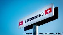 Deutschland Konstanz | Schild | Landesgrenze zur Schweiz