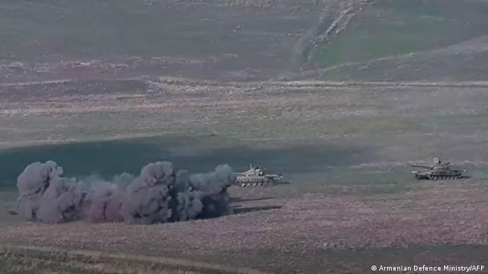 Боевые действия в районе Нагорного Карабаха