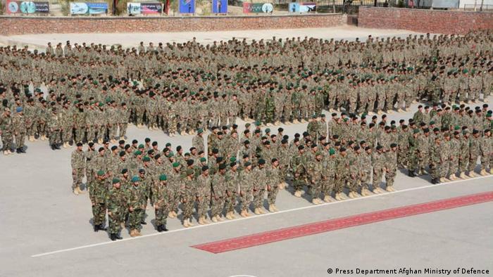 Afghanistan Soldaten in einem militärischen Ausbildungszentrum