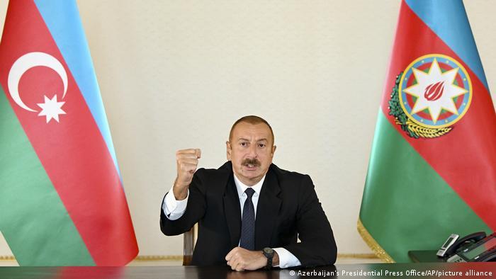 Aserbaidschans Präsident Ilham Alijew (Foto: Azerbaijan's Presidential Press Office/AP/picture alliance)