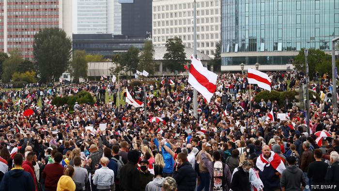 Учасники акції протесту в Мінську, 27 вересня