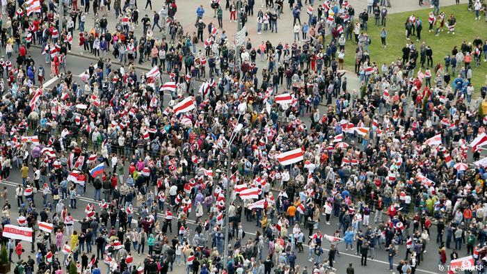 Weißrussland Minsk | Proteste gegen die Regierung Lukashenkos (TUT.BY/AFP)