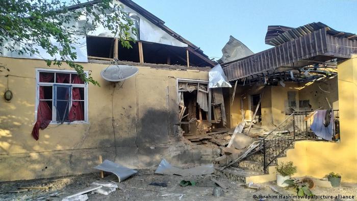 Дом, разрушенный в ходе военных действий