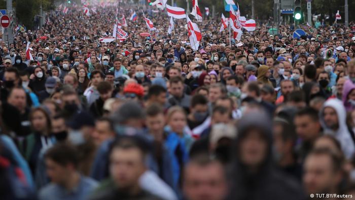 Многотысячная акция протеста в Минске, 27 сентября