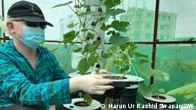 Ahsan Rony, Founder and President of Green Savers, an organisation working to popularise hydroponic farming in Bangladesh. Copyright: Harun Ur Rashid Swapan/DW