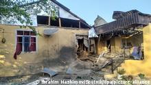 Aserbaidschan I Zerstörtes Haus in Tartar
