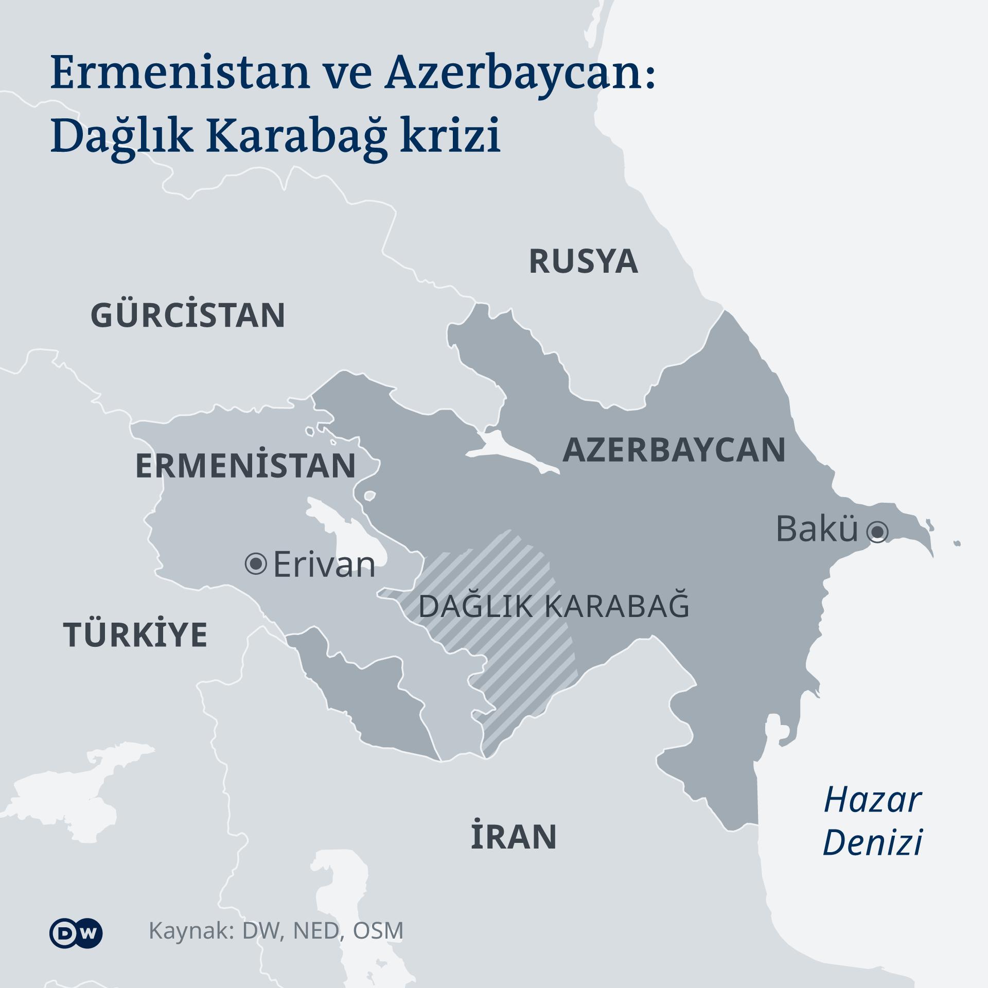 Karte Armenien Aserbaidschan Berg-Karabach TR
