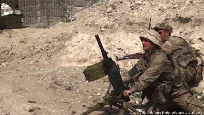 Haut-Karabakh: des soldats dans une vidéo du ministère azerbaïdjanais de la Défense le 27 septembre