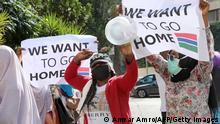 Libanon afrikanische Arbeitsmigranten nach Explosionskatastrophe
