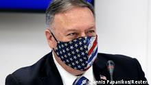 U.S. Secretary of State Mike Pompeo attends a signing agreement ceremony in Thessaloniki, Greece, September 28, 2020. Giannis Papanikos/Pool via REUTERS