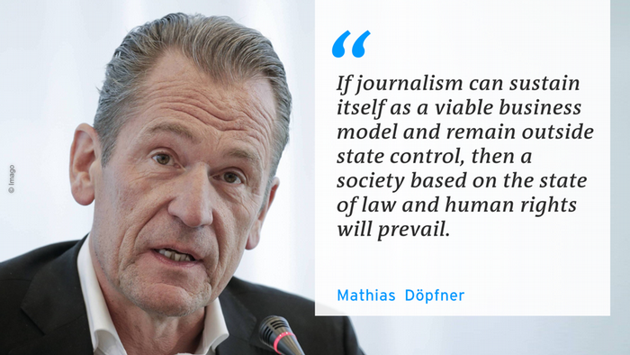 Mathias Döpfner, president of the Federation of German Newspaper Publishers
