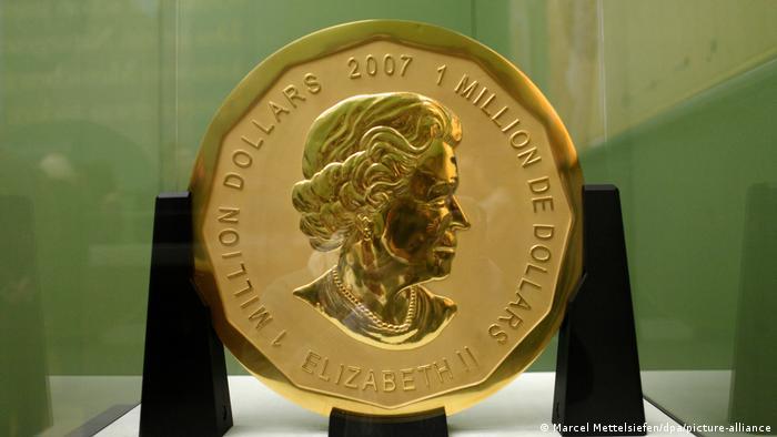 Золотая монета весом 100 кг, похищенная из берлинского Музея Боде