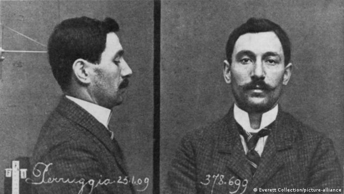 Похититель Джоконды Винченцо Перуджа. Полицейская фотография