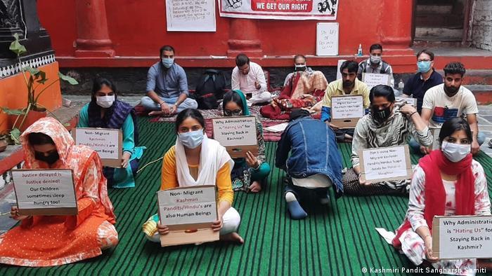 Kaschmir Indien Pakistan Srinagar Pandits Hungerstreik