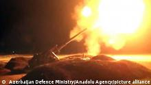 Artillery fire in the Nagorno-Karabakh conflict ( Azerbaijan Defence Ministry/Anadolu Agency/picture alliance)