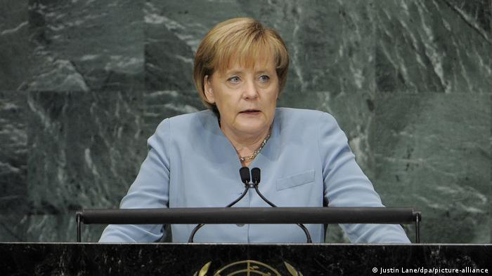 USA | Angela Merkel | UN-Gipfel in New York in 2010 (Justin Lane/dpa/picture-alliance)