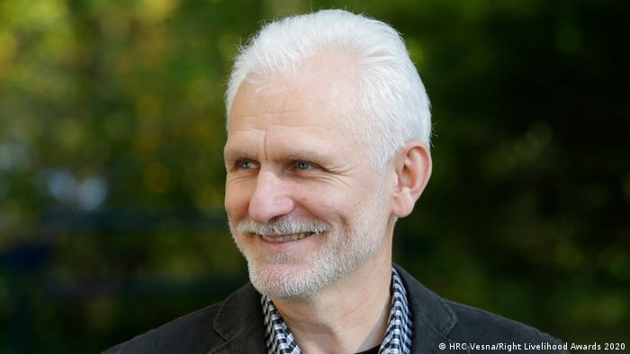 SPERRFRIST 01.10.2020 / 9 Uhr MESZ / Right Livelihood Awards 2020, Ales Bialiatski, Belarus (HRC Vesna/Right Livelihood Awards 2020)