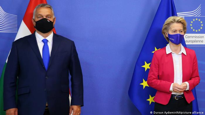 Viktor Orban și Ursula von der Leyen la Bruxelles