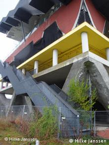 The dutch pavilion in a state of decay