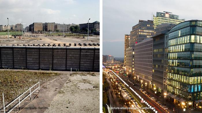 Берлин до и после воссоединения