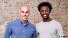 Lesan founders Adam Beaudoin (CEO) and Asmelash Teka Hadgu (COT) Ort: Berlin Germany Datum: 29.09.2020 Copyright: Lesan
