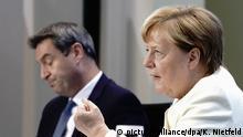 Deutschland Angela Merkel bei Beratungen der Ministerpräsidenten über die Corona-Pandemie
