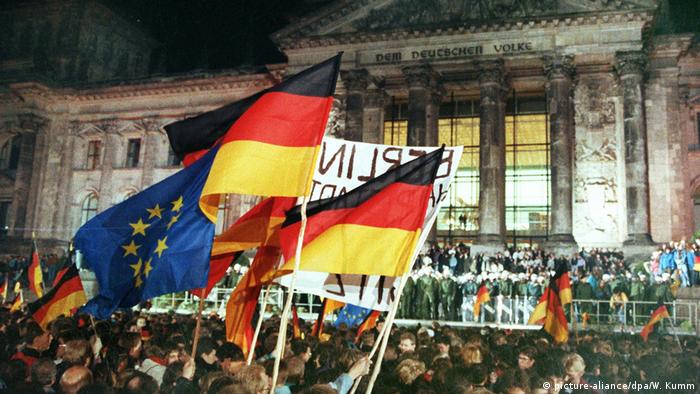 Imagen de la Reunificación alemana.