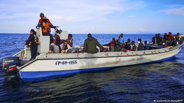 Kolumbien Haitianischen Migranten an der karibischen Küste