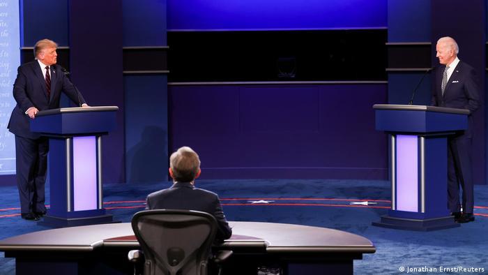 USA Präsidentschaftswahlen TV Debatte Trump Biden (Jonathan Ernst/Reuters)