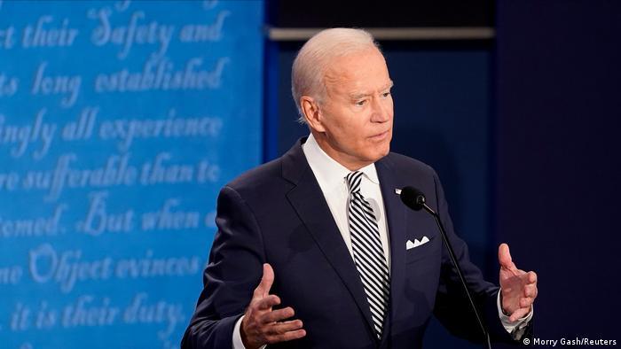 USA Präsidentschaftswahlen TV Debatte Trump Biden (Morry Gash/Reuters)