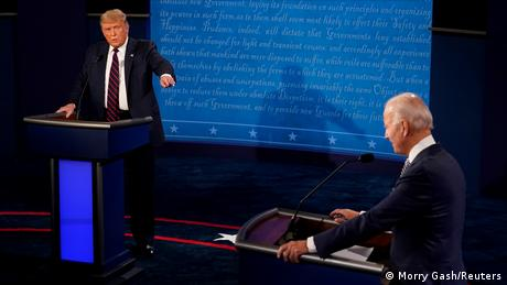 Donald Trump e Joe Biden em debate