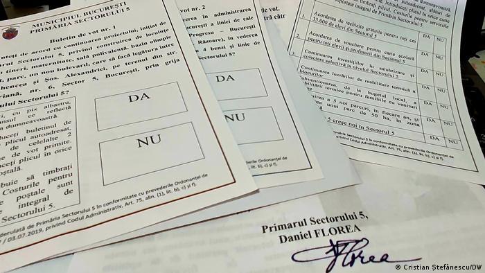 Aşa-zisul sondaj transmis în ultimele ore de campanie de Daniel Florea, primarul pesedist al Sectorului 5 (Cristian Ştefănescu/DW)