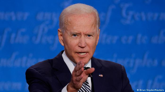 Democratic presidential nominee Joe Biden during the first TV debate in September