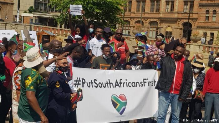 Südafrika I Proteste gegen Ausländer