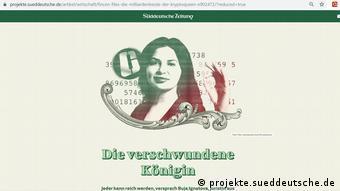 Фото Ружи Игнатовой в статье газеты Süddeutsche Zeitung Исчезнувшая королева