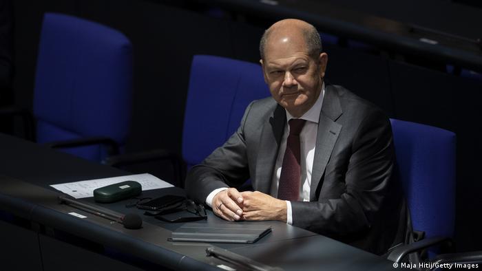 Deutschland Bundestag Bundeshaushalt Olaf Scholz (Maja Hitij/Getty Images)