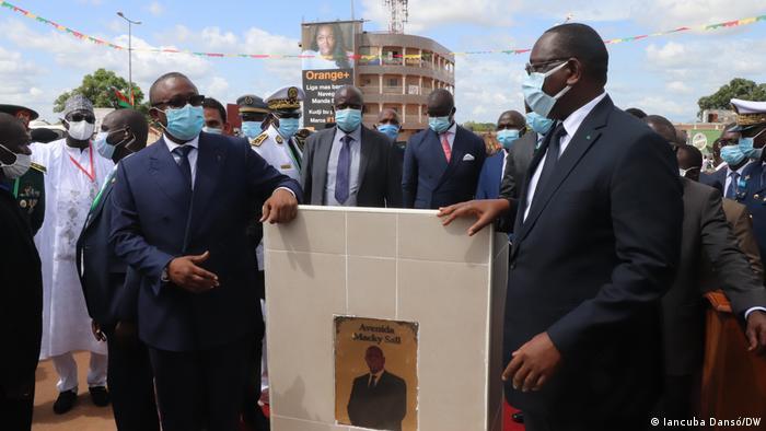 Sissoco Embaló e Macky Sall na inauguração da avenida em honra do Presidente senegalês