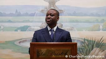 Guillaume Soro lors d'une conférence de presse à Paris, en septembre dernier