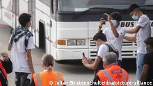 Deutschland Migranten aus Moria landen in Hannover
