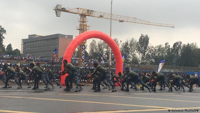 Äthiopien Addis Abeba | Polizei | Parade