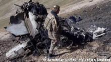 Armenien | Krieg Bergkarabach | Abgeschossenes Flugzeug SU-25