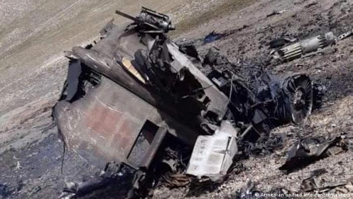 На фото: останки армянского Су-25, Ереван уверен, что его сбили ВВС Турции.