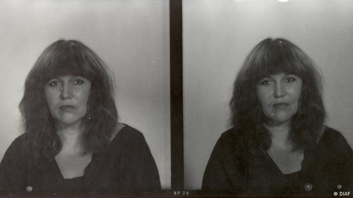 Two photos of Marion Rasche side by side, a woman looking into the camera