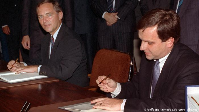 Unterzeichnung Einigungsvertrag 1990