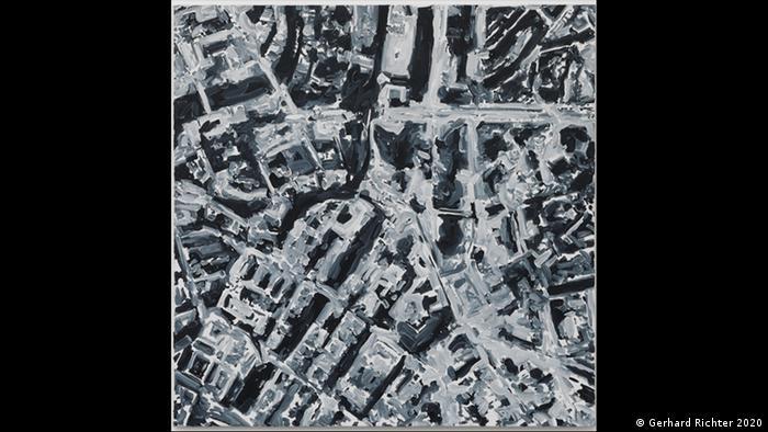 Blick auf eine wie kriegszerstört wirkende Stadt: Gerhard Richters Stadtbild von 1970 ist im Kunstforum Wien zu sehen (Gerhard Richter 2020)