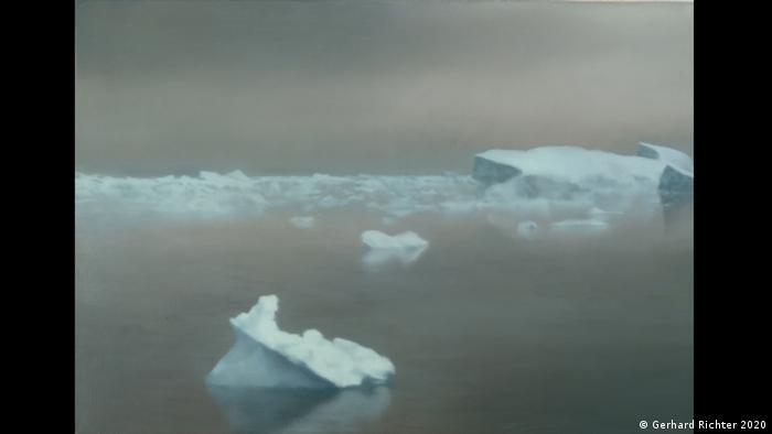 Eisschollen treiben in der Arktis - das Gemälde Gerhard Richters entstand 1981