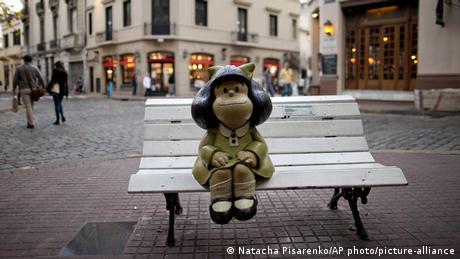 Argentinien Mafalda Comicfigur in Buenos Aires