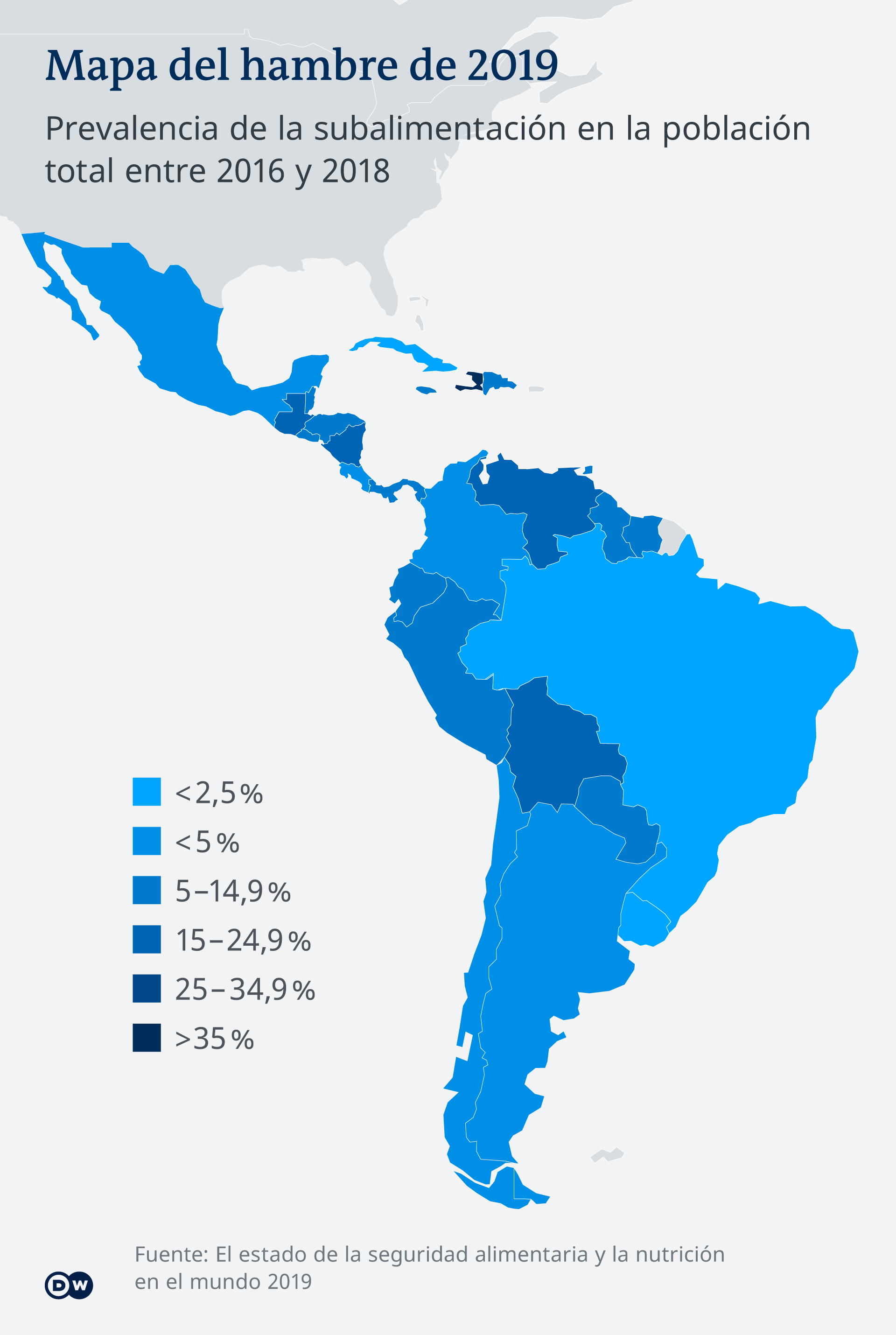 Infografik Karte Welthungerindex Lateinamerika ES